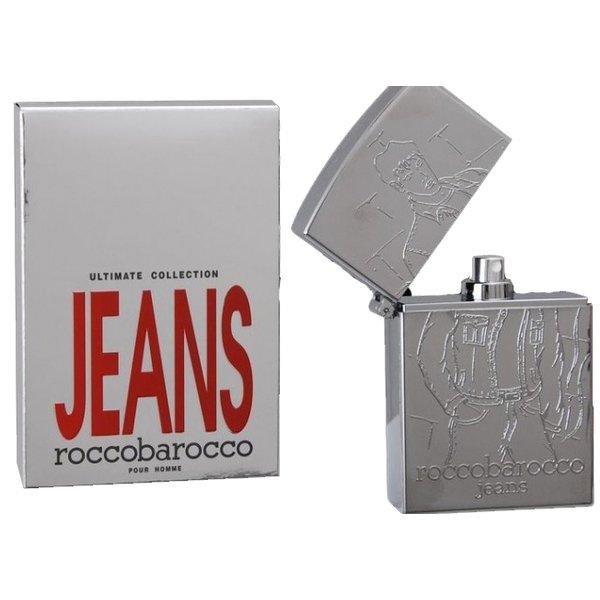 Roccobarocco Silver Jeans Men