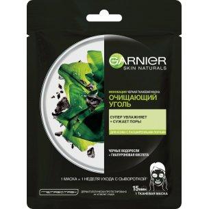 Тканевая маска Garnier Очищающий Уголь + Черные водоросли