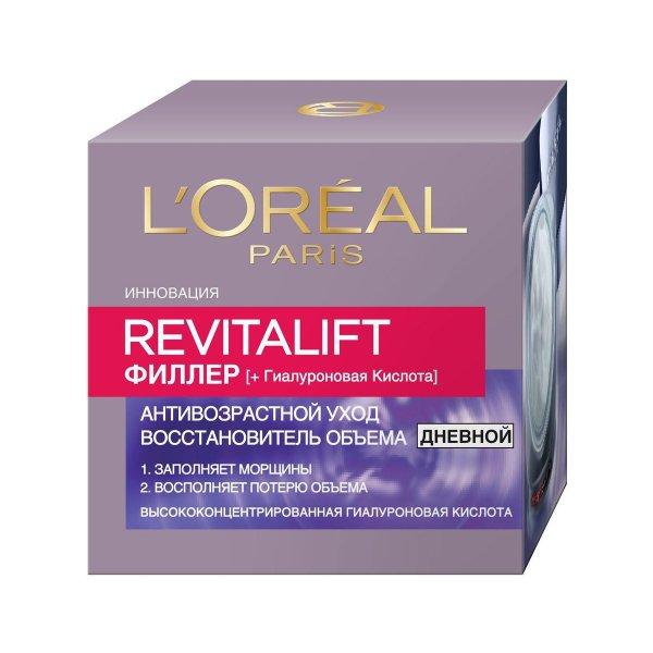 Дневной антивозрастной крем для лица L'Oreal Paris RevitaLift Филлер против морщин 50 мл