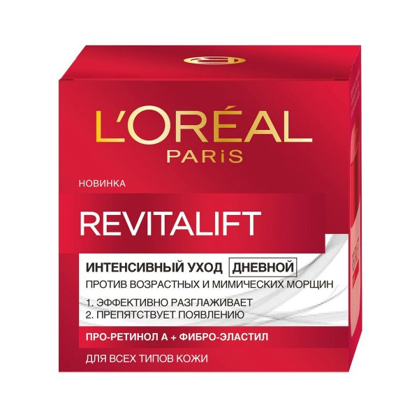 Дневной антивозрастной крем для лица L'Oreal Paris RevitaLift против морщин 50 мл